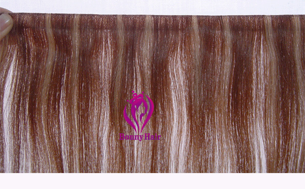 100% Remy Human Hair Seamless Skin Weft--05