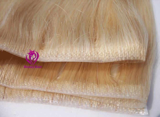 100% Remy Human Hair Seamless Skin Weft--17