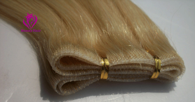 100% Remy Human Hair Seamless Skin Weft--18
