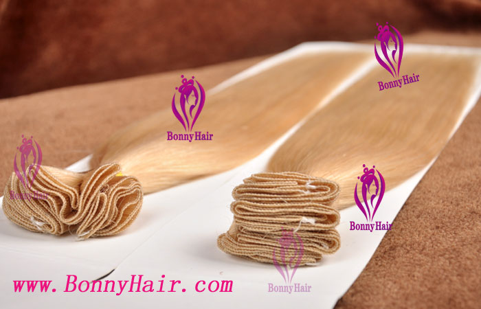 100% Remy Hair Hand Tied Hair Weft--66